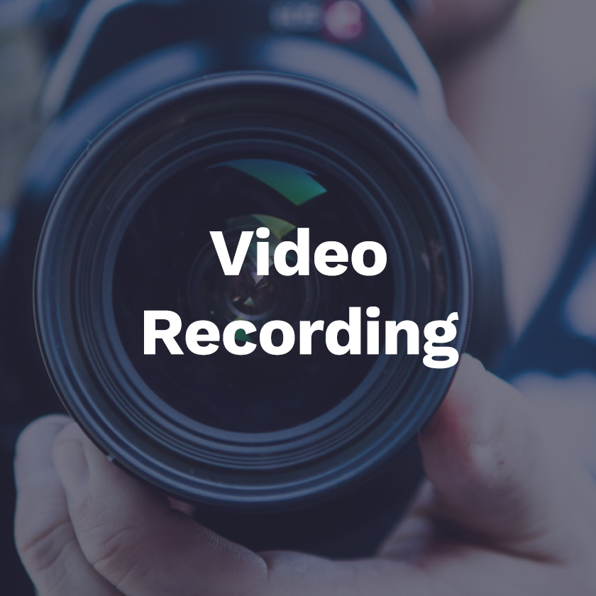 Video recording - We can record with you or we can teach you how to record videos yourself