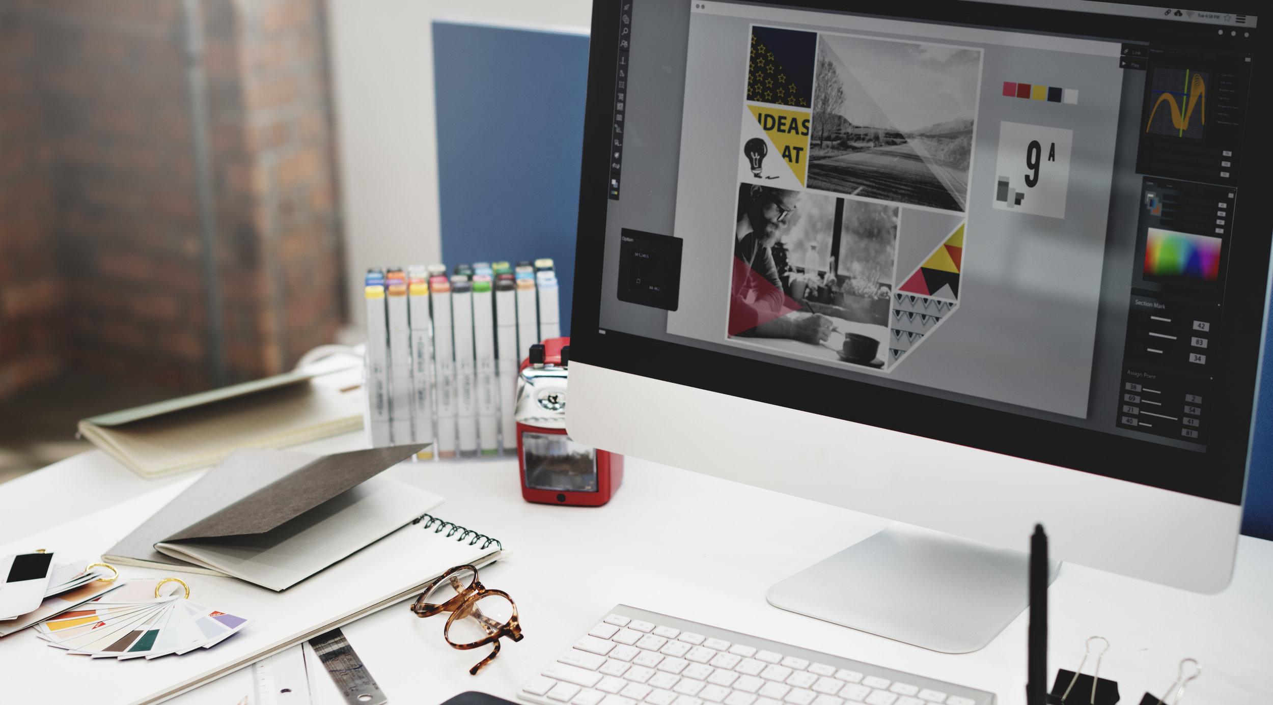 Computer at desk