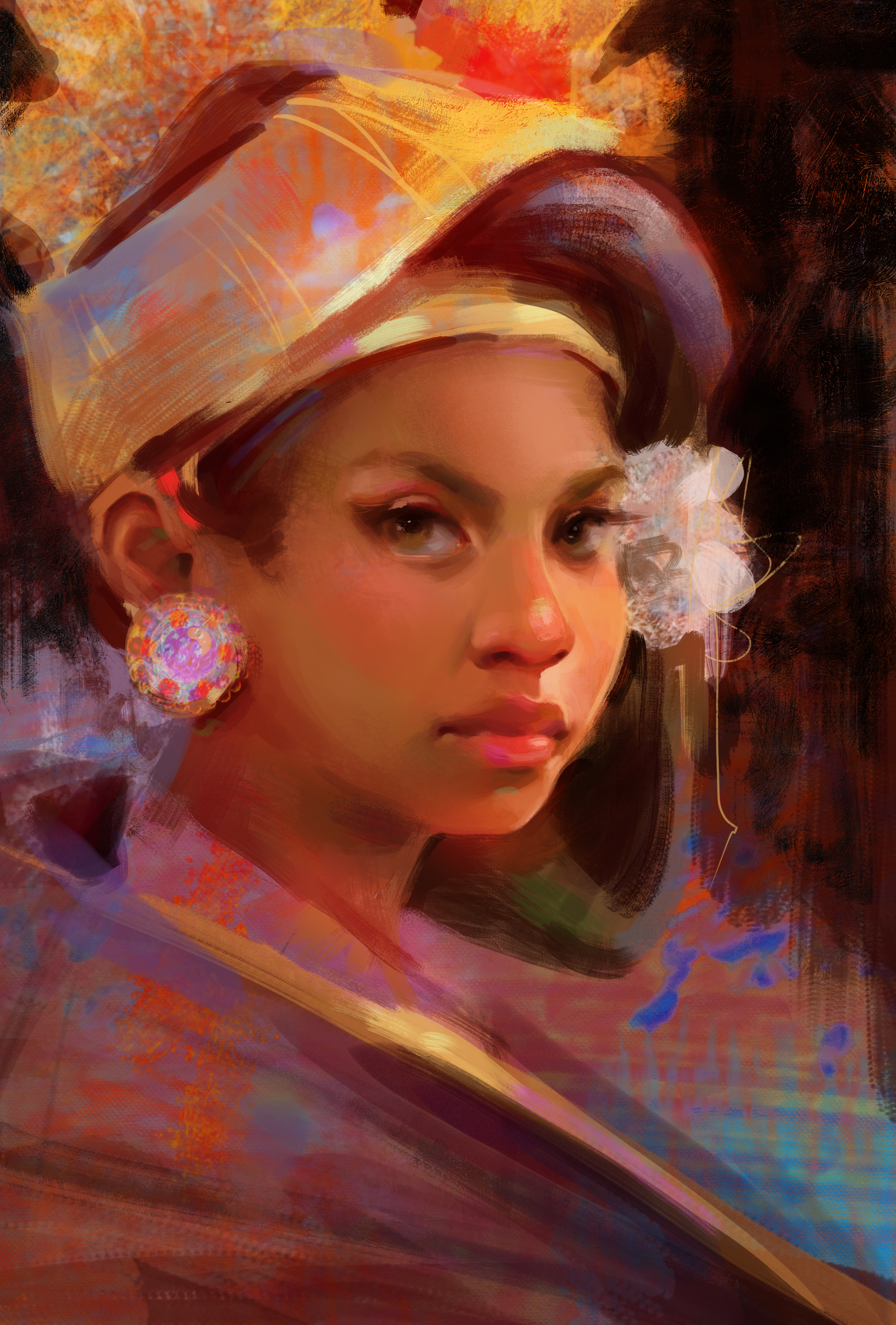 Balinese Digital Portrait