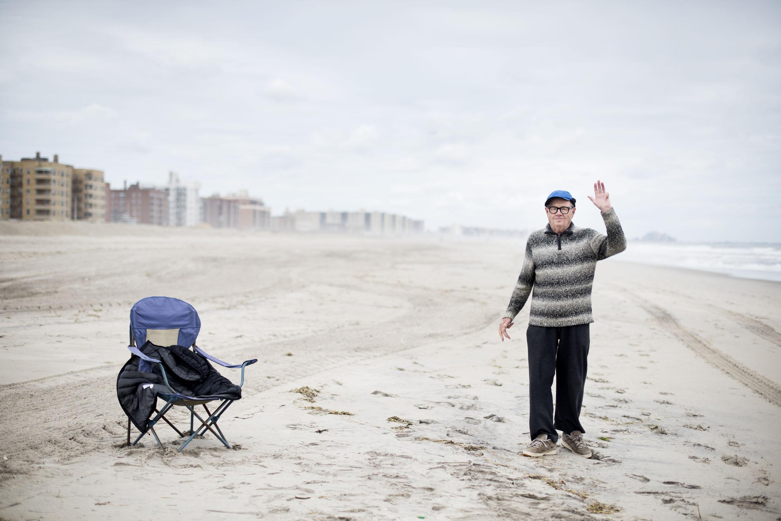Friendly man at beach