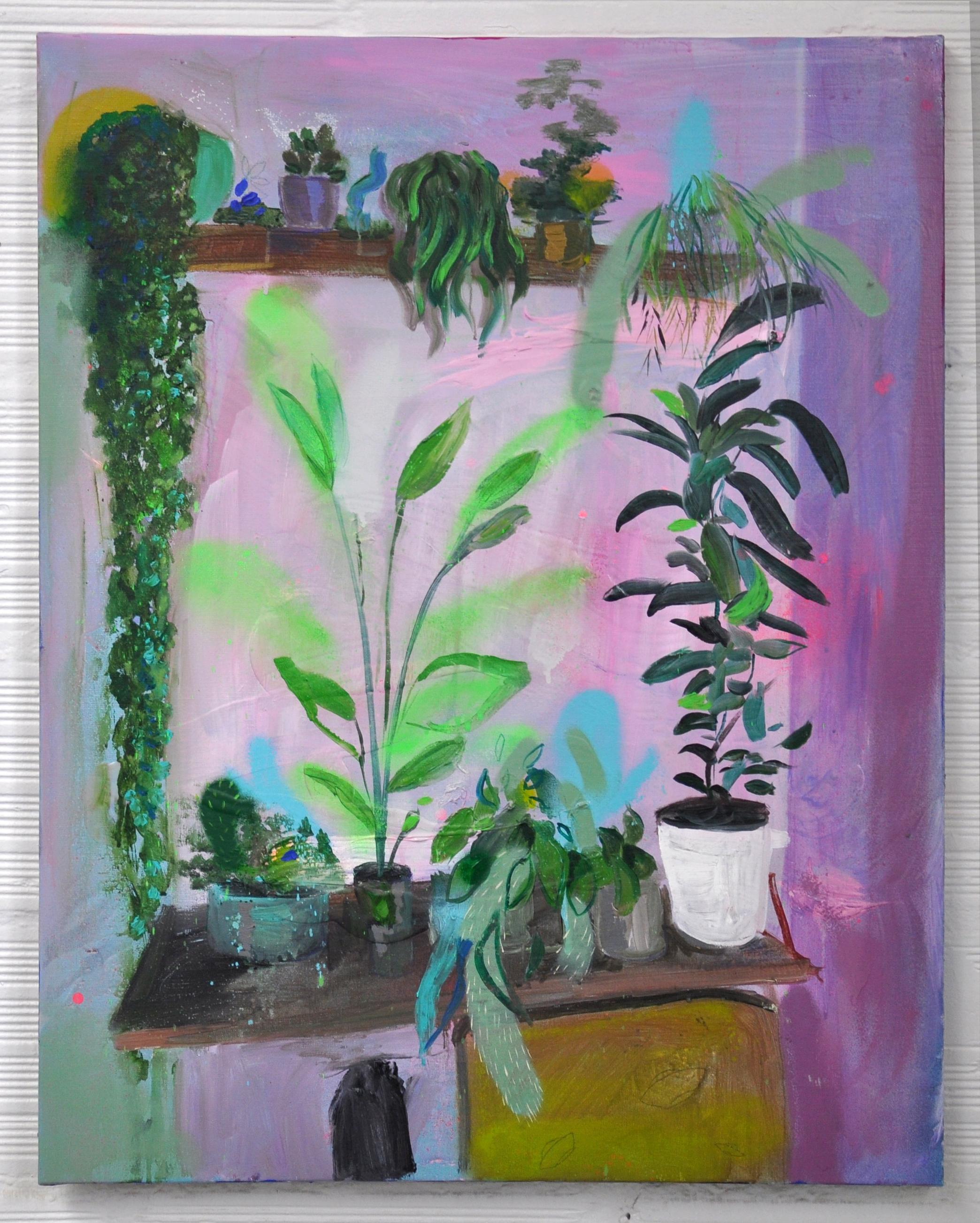 plants 1, acrylic on canvas, 60x50cm