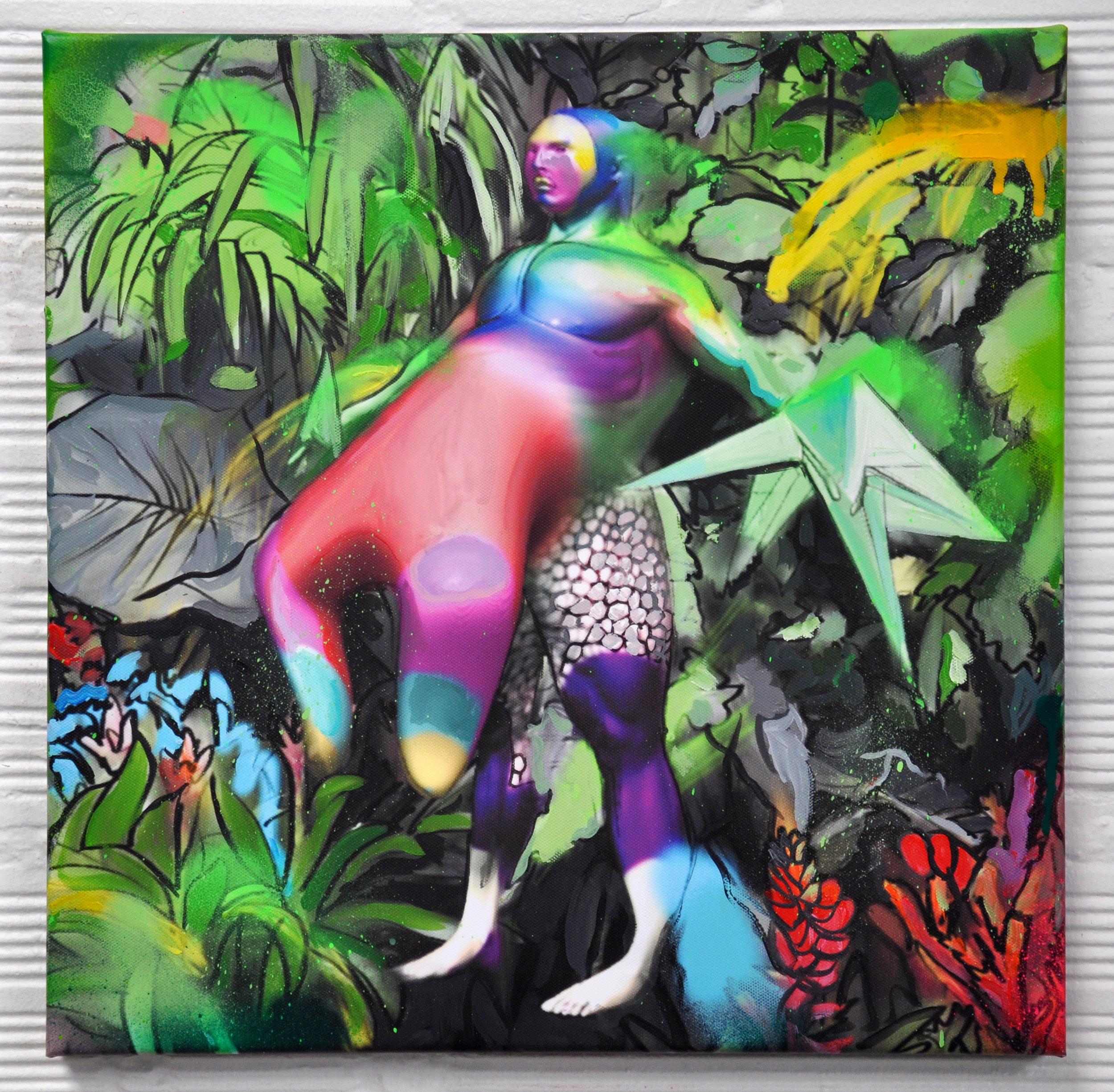 the warden, acrylic on canvas, 40x40cm