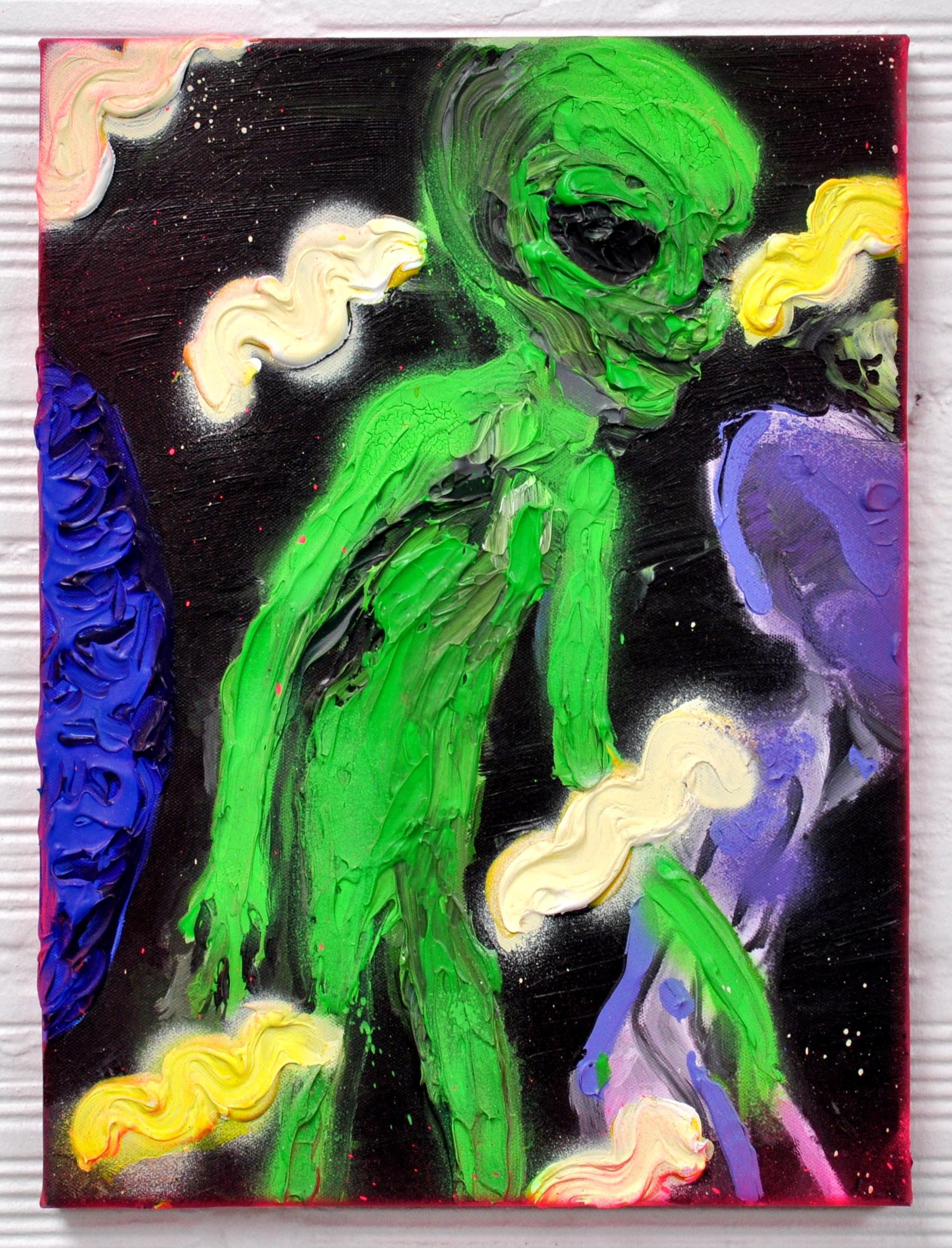 le petit alien, acrylic on canvas, 40x30cm