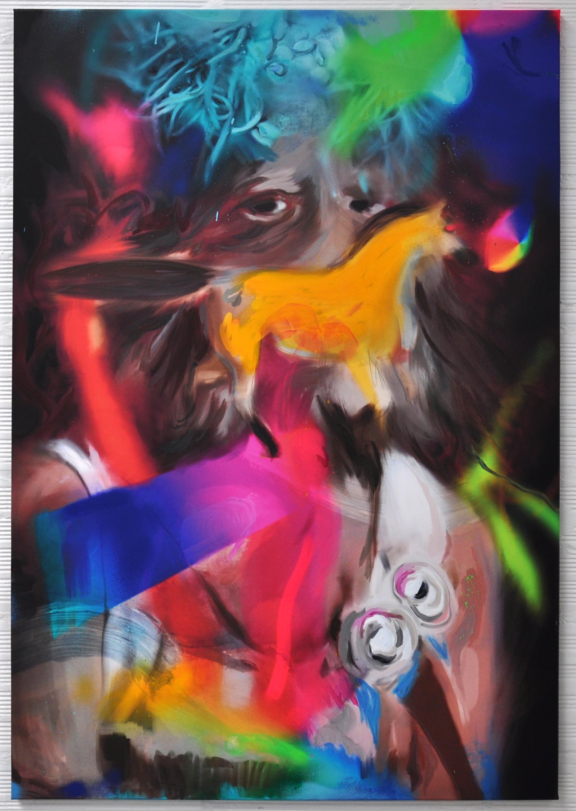 atavism, acrylic on canvas, 120x80cm