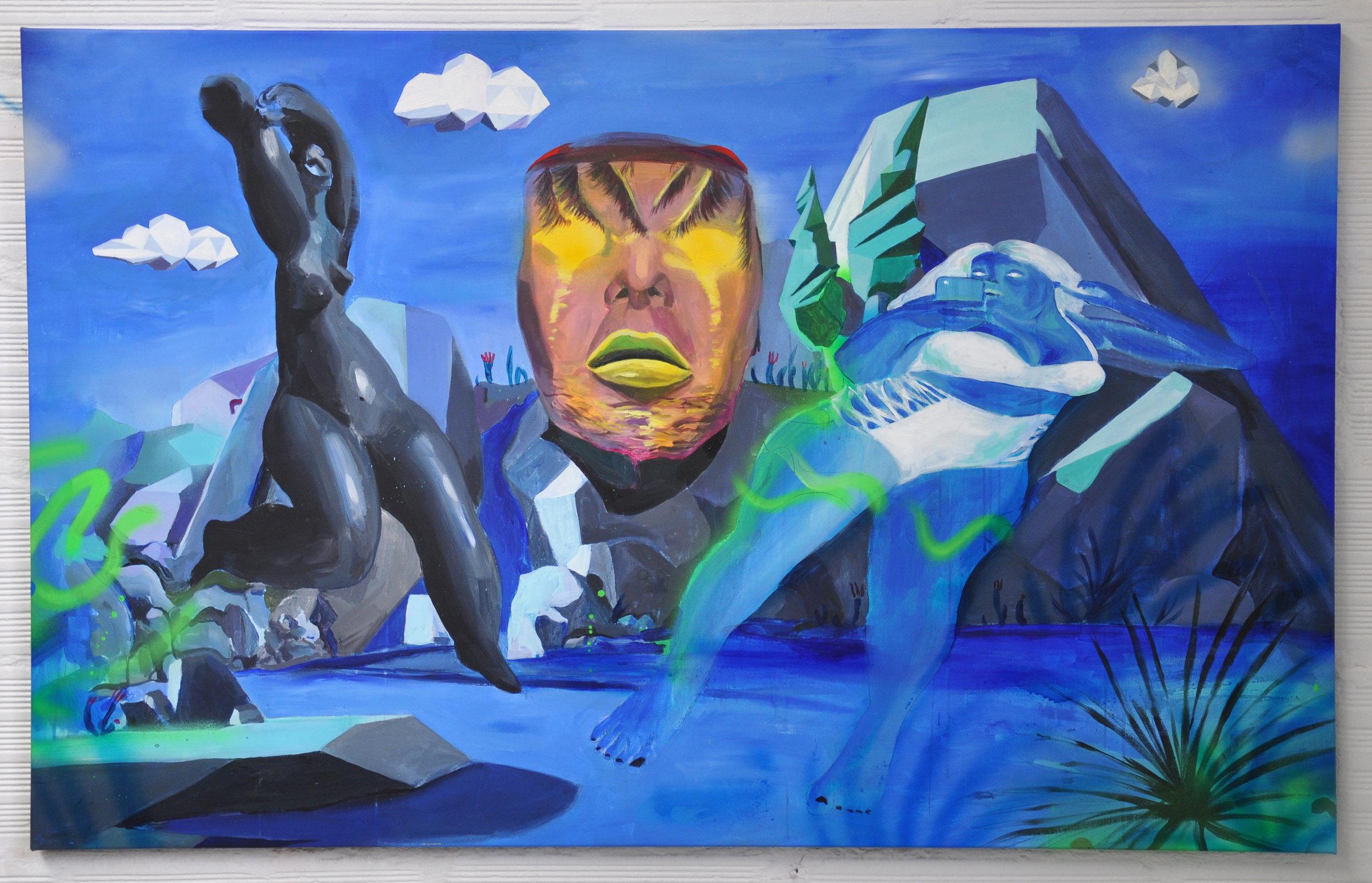 floridaaa, acrylic on canvas, 100x150cm