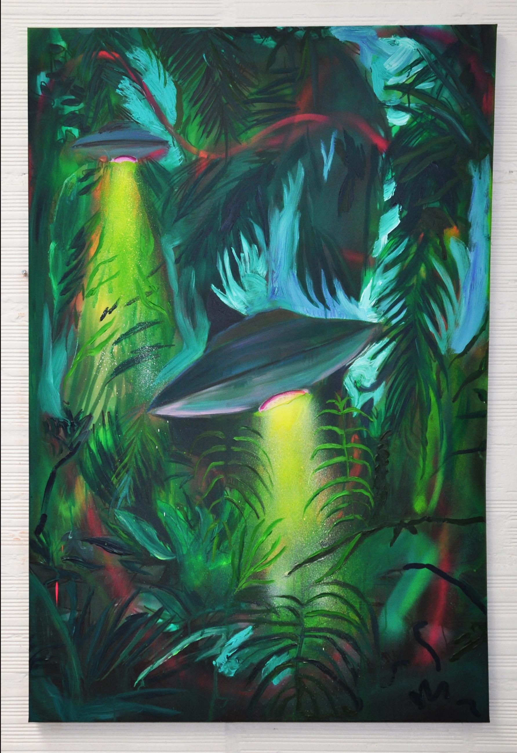 alien/nation, acrylic on canvas, 120x80cm