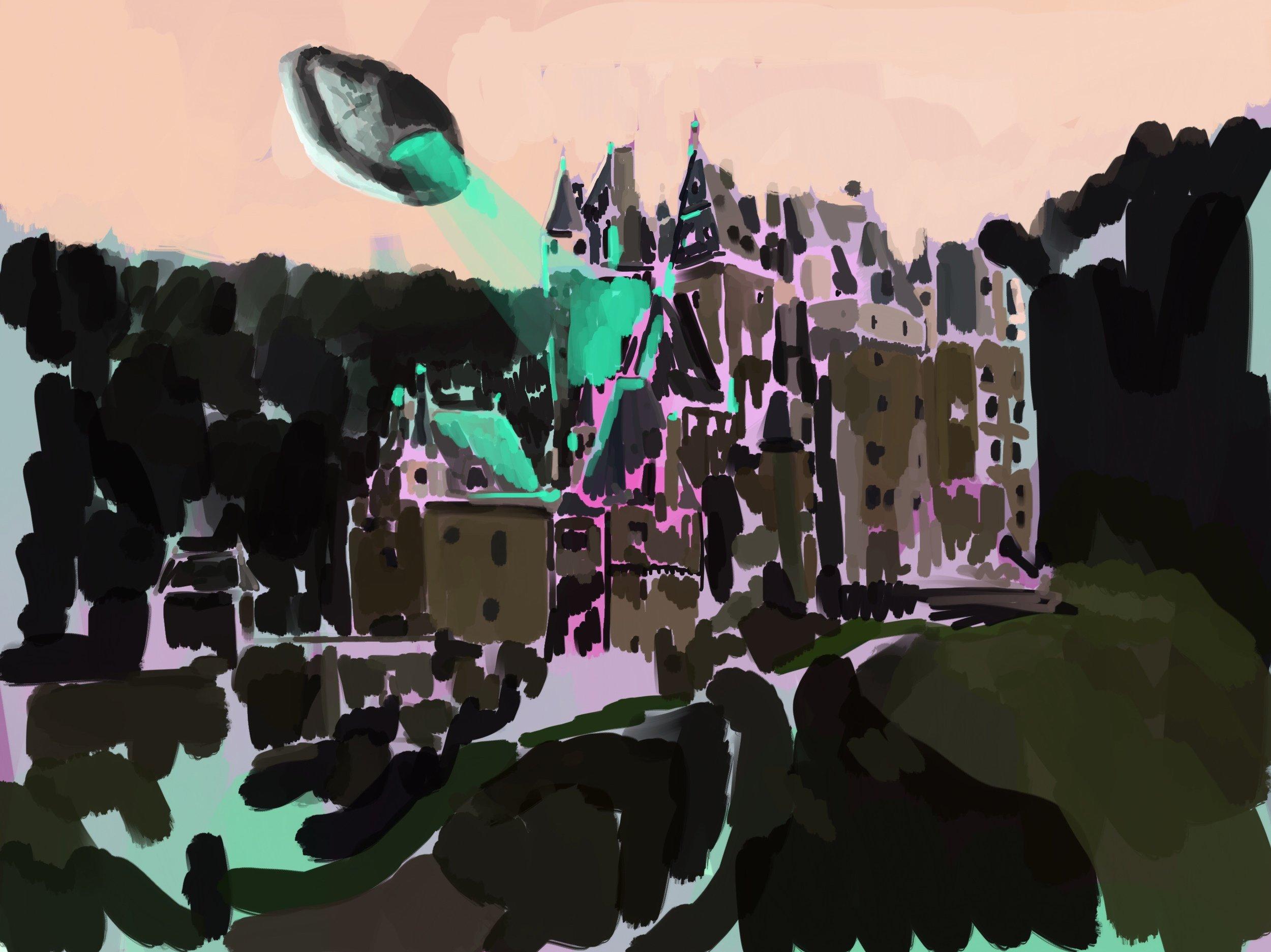 castle 3, acrylic on canvas, 60x80cm