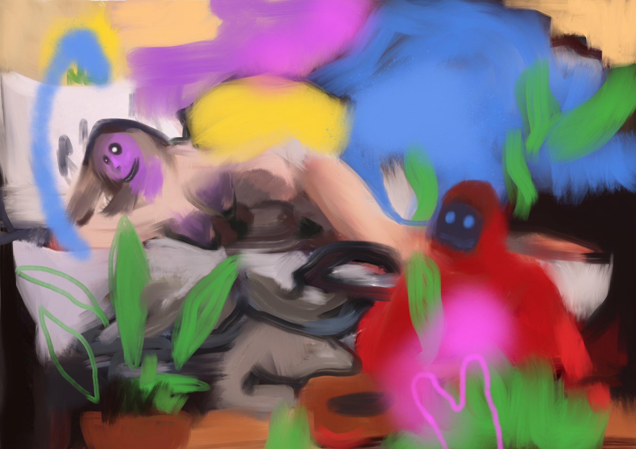 odalisque 3, acrylic on canvas, 80x120cm