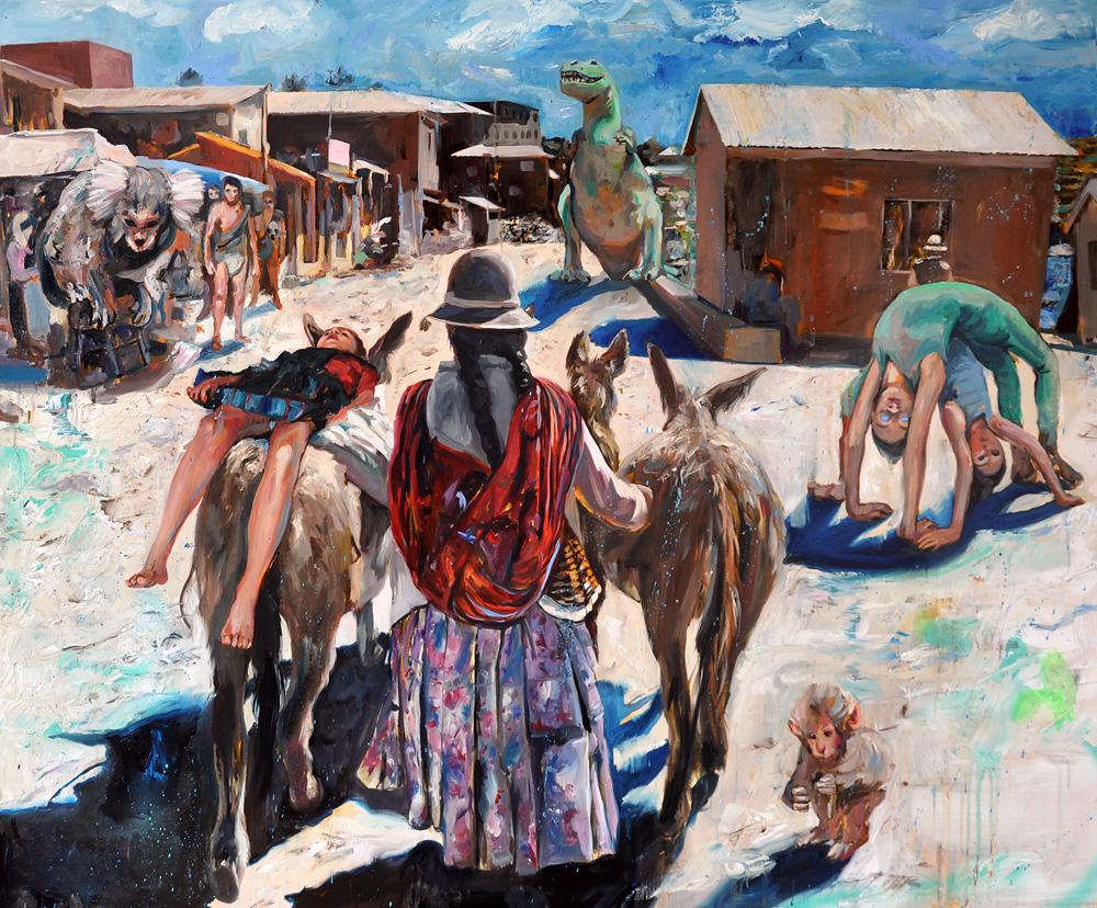 the exodus, oil on canvas, 130x162cm