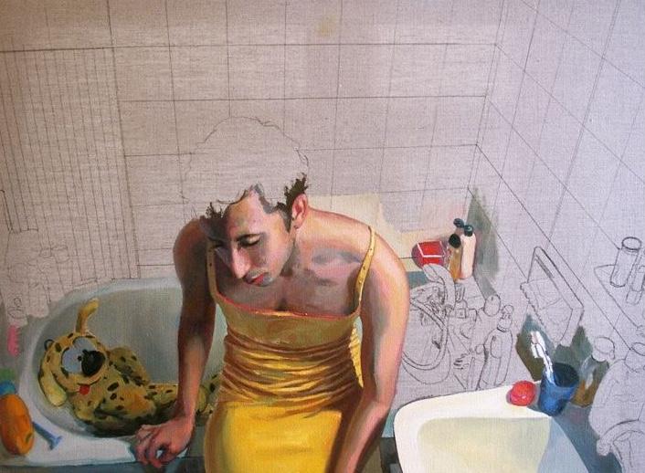 girl, oil on canvas, 54x73cm