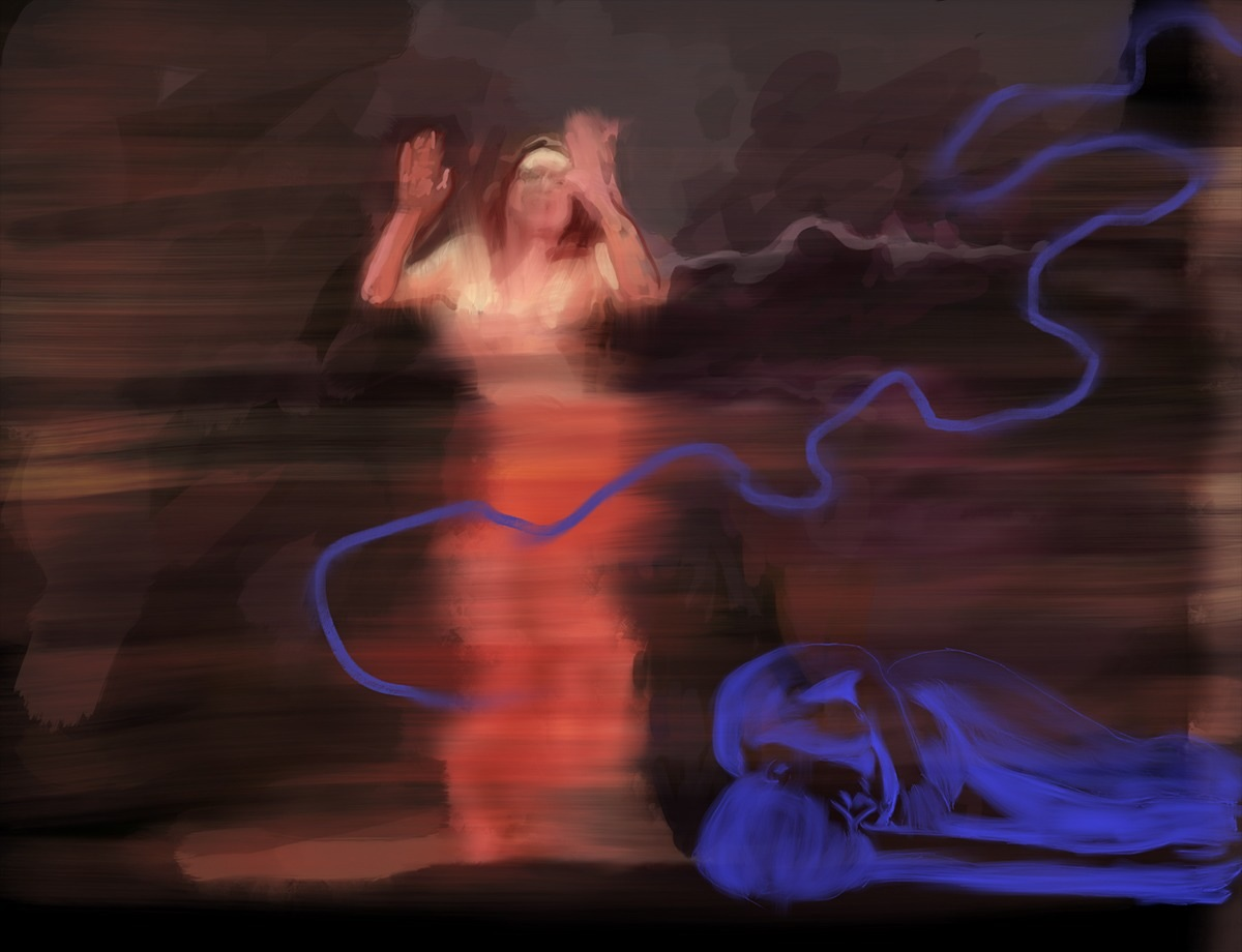 la tempête, acrylic on canvas, 80x120cm