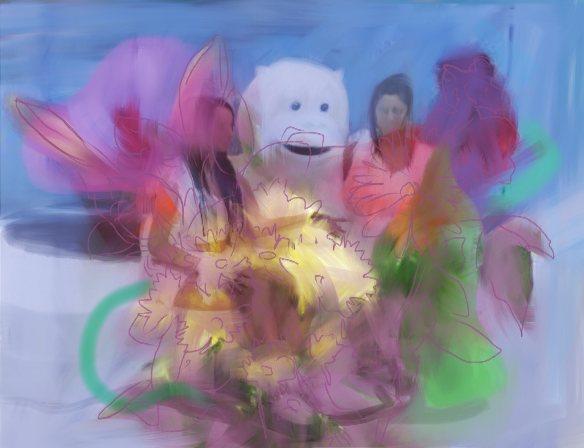 le bouquet, acrylic on canvas, 80x120cm