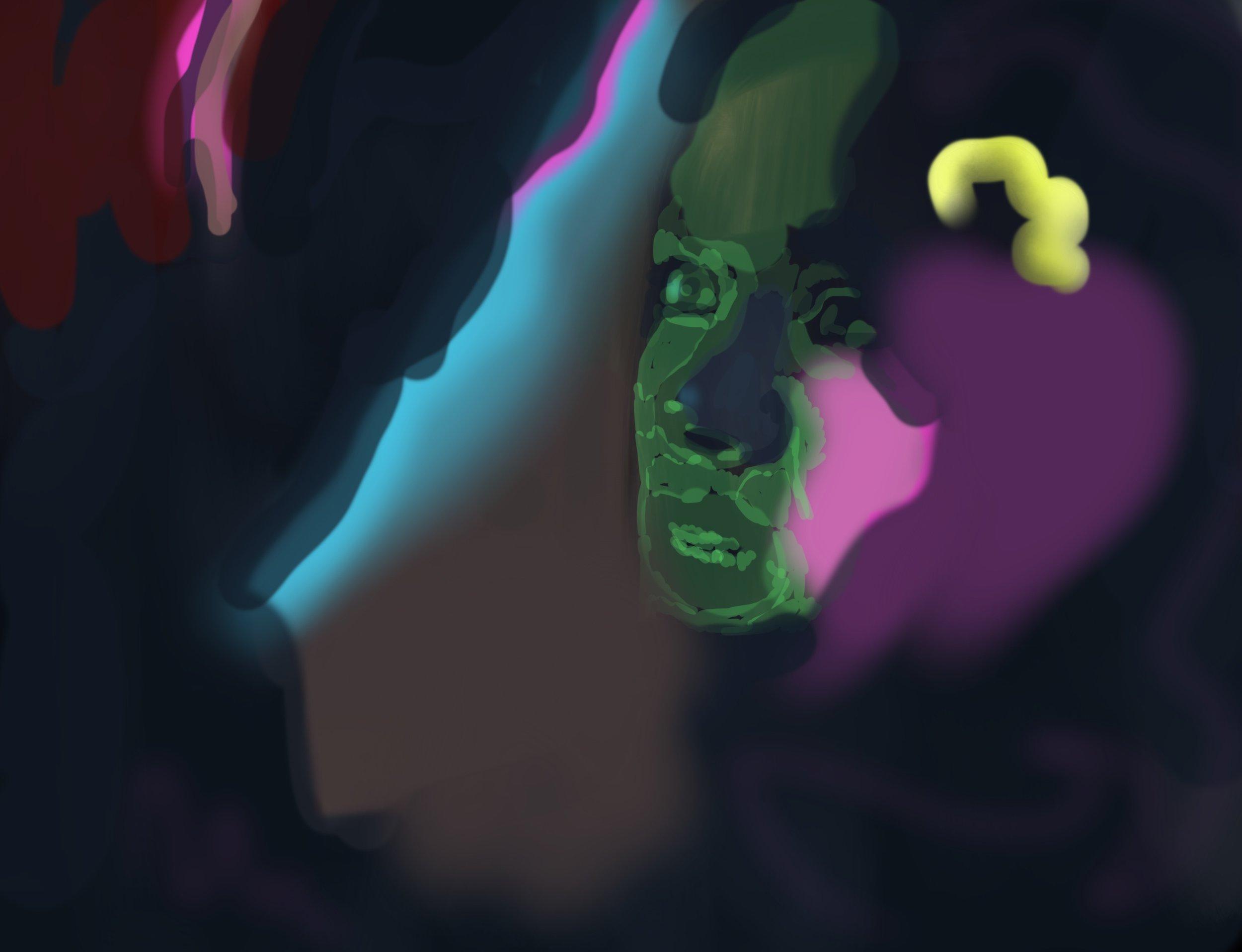 la dispute, acrylic on canvas, 80x120cm