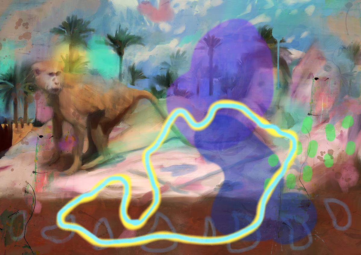 odalisque 2, acrylic on canvas, 80x120cm