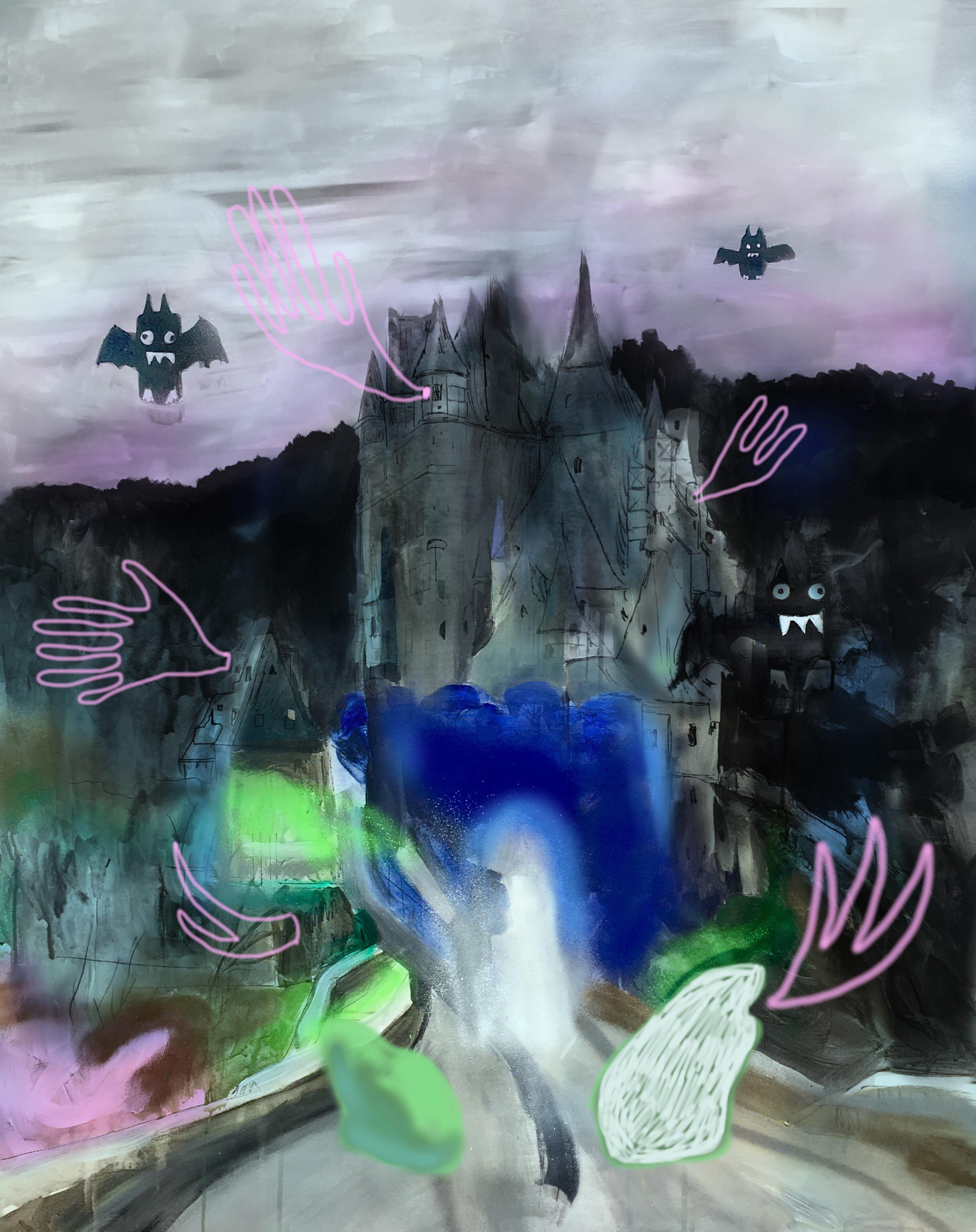 castle, acrylic on canvas, 80x60cm