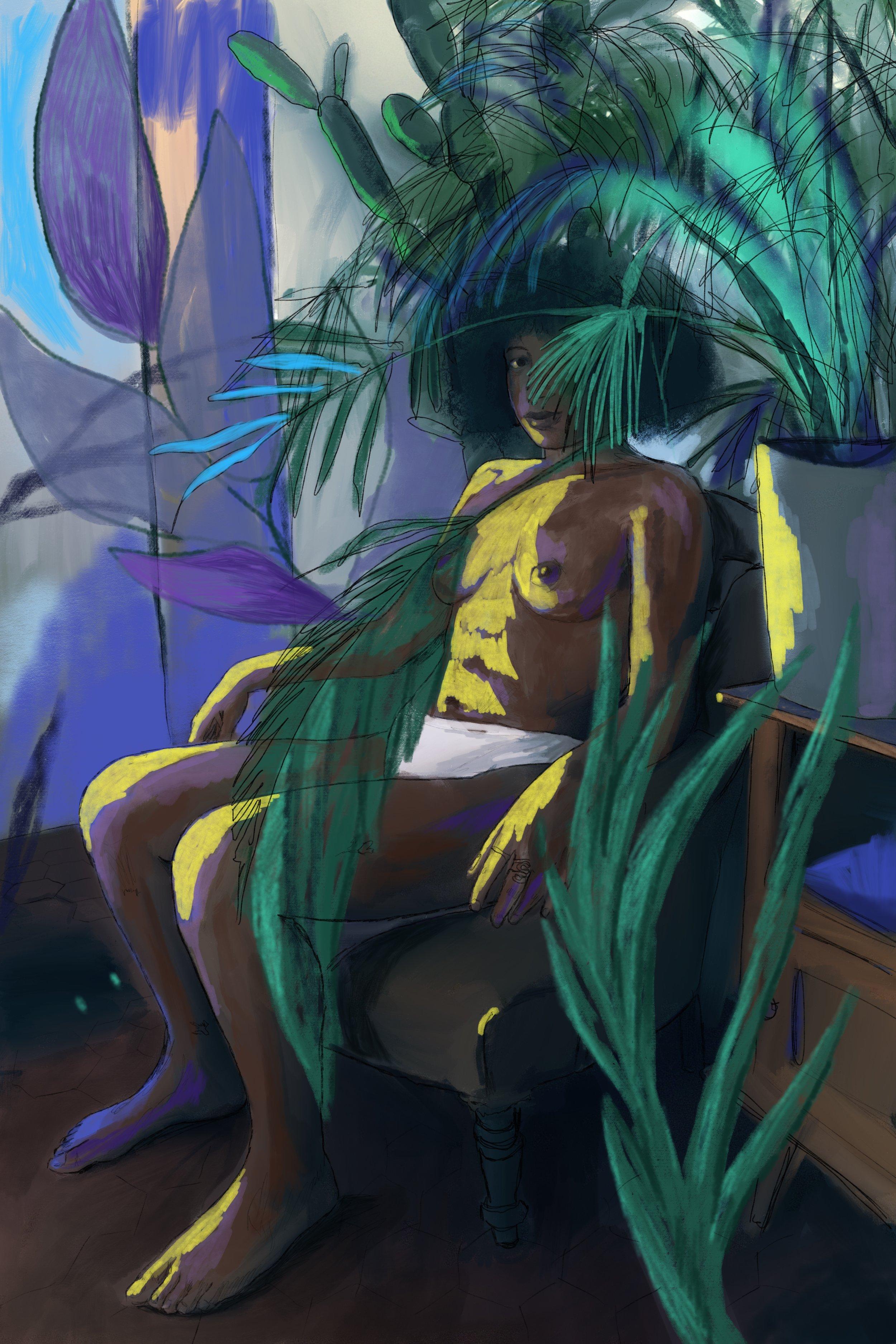 marseille, acrylic on canvas, 180x120cm