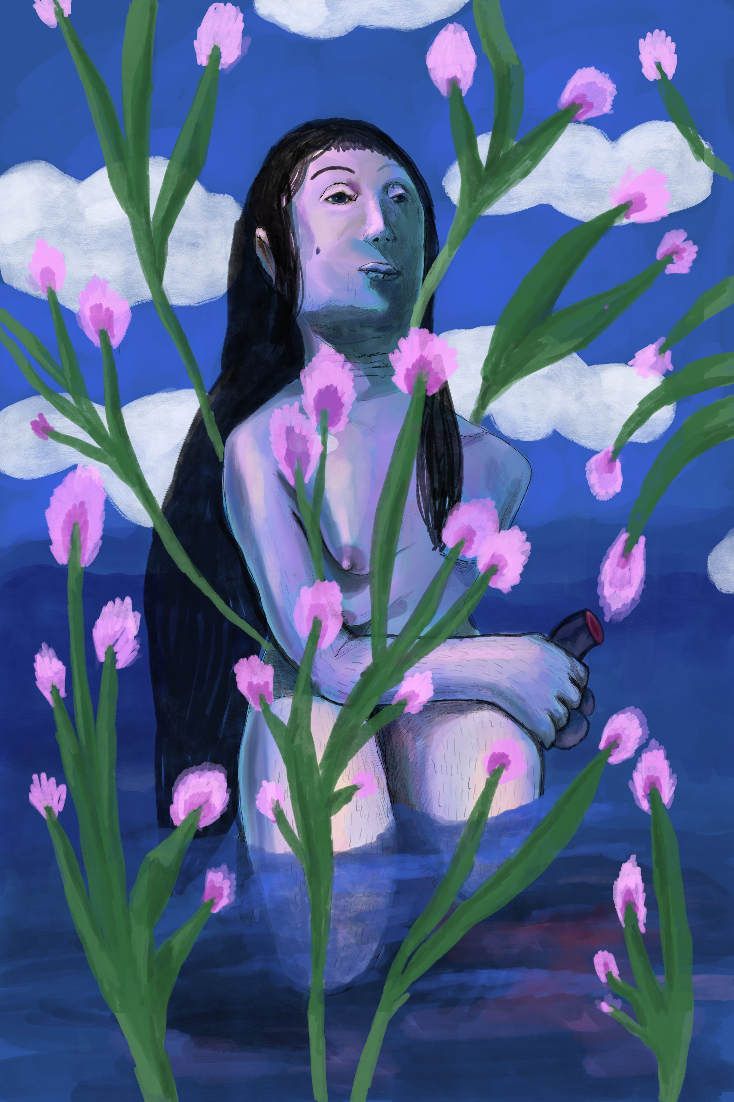 ondine, acrylic on canvas, 80x120cm