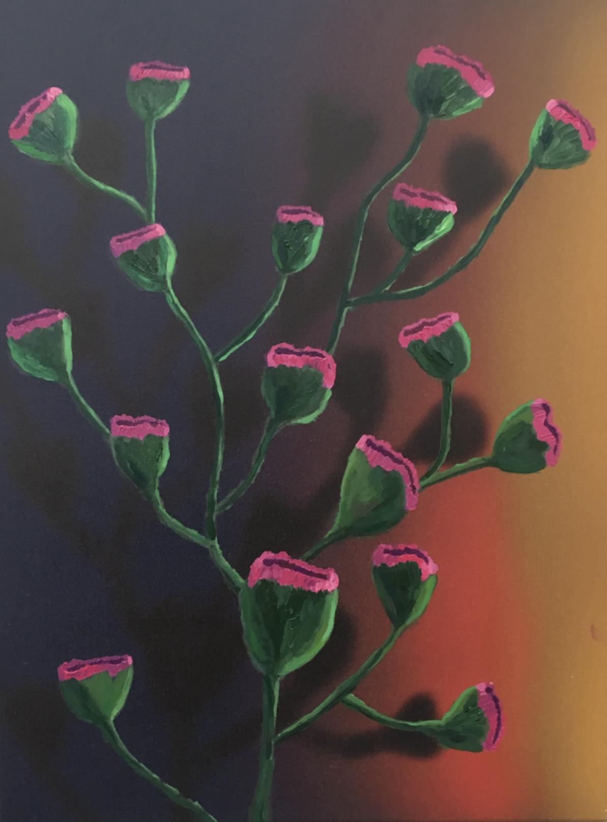 fleurs 3, acrylic on canvas, 45x60cm