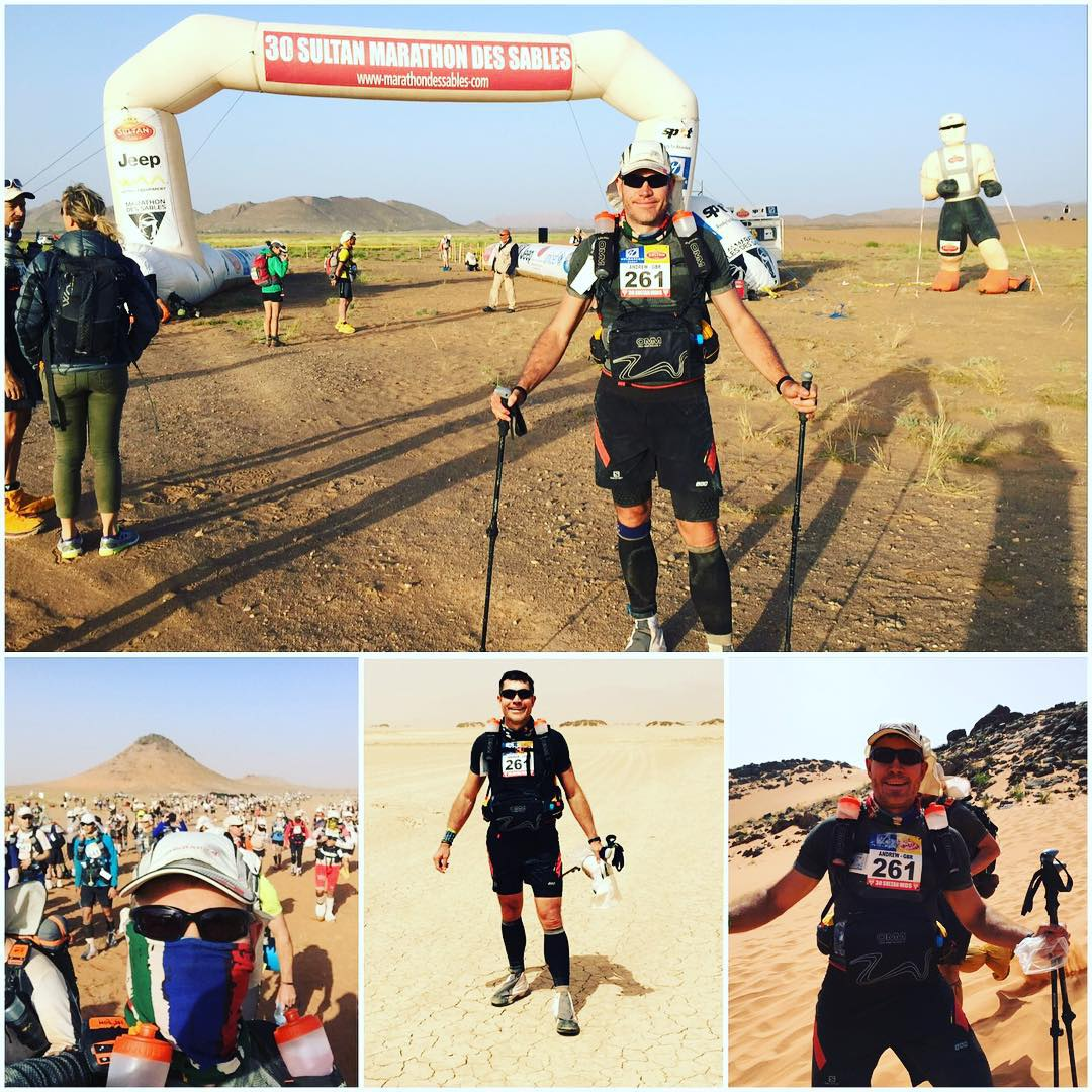 Andrew's Journey - Andrew's goal was to complete the Marathon De Sables. As a CEO of a large company in central London he was often strapped for time.