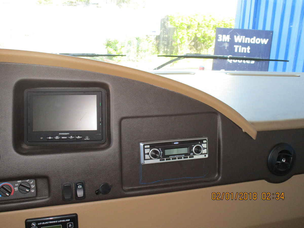 RV Double-Din Upgrade Before
