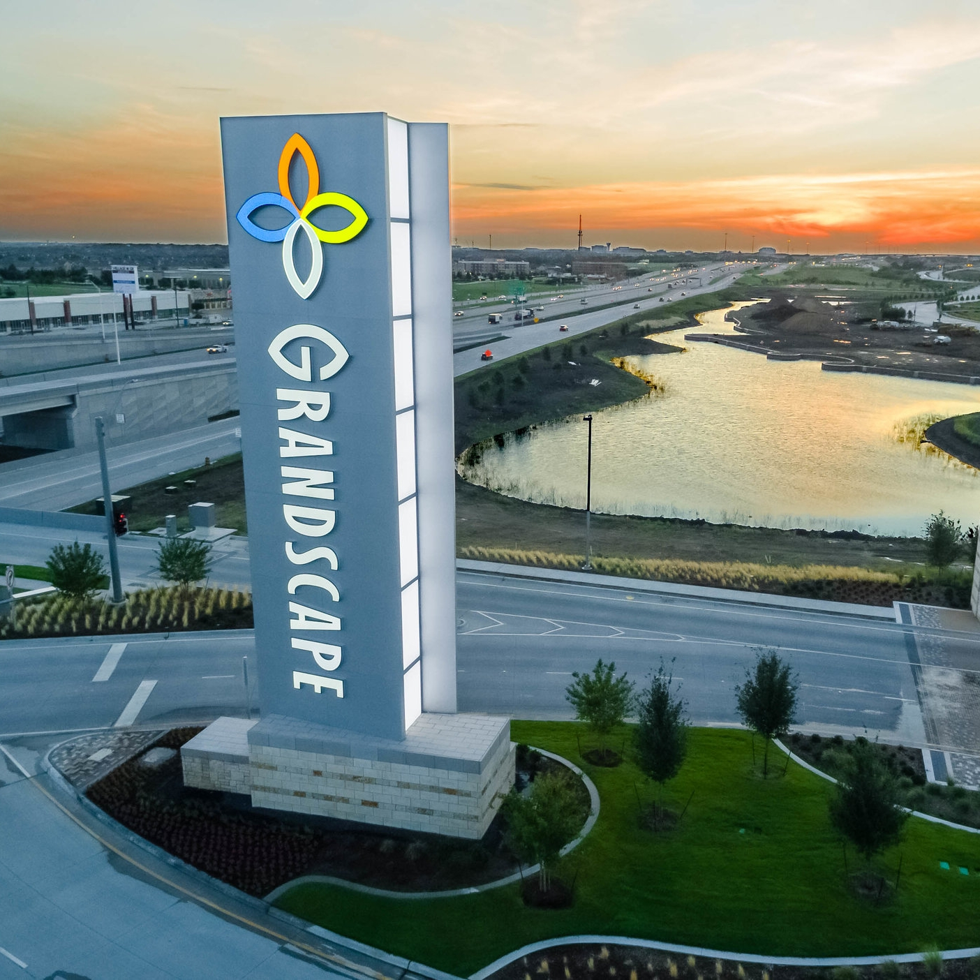 High Profile Real Estate Developments - High Profile Real Estate Developments (Single-use, Mixed-use) require special thought and consideration. Our process covers both tactical elements, such as creating a wayfinding methodology, and the brand elements, such as establishing a unique corporate identity. Chandler has performed work for a number of high-profile campuses such as The Star (The Dallas Cowboys World Headquarters) and Cypress Waters. Our mixed-use development expertise is unmatched. Working with mega developers such as Berkshire-Hathaway on Grandscape and high profile architects like RSM Design on The Star (The Dallas Cowboys World Headquarters), Chandler knows how to deliver on the highest profile projects. We make business feel at home.