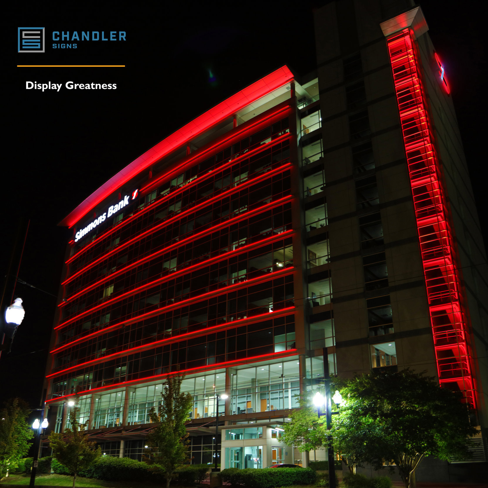 New full motion RGB system for Simmons Bank Corporate HQ