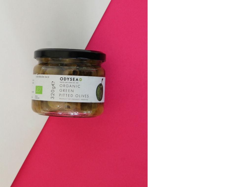 Organic Green Pitted OlivesOdysea  - Hand selected and traditionally cured organic single estate olives from the Rovies grove on the island of Evia in Greece.Odysea organic green olives are stored in brine with a touch of extra virgin olive oil and white wine vinegar.
