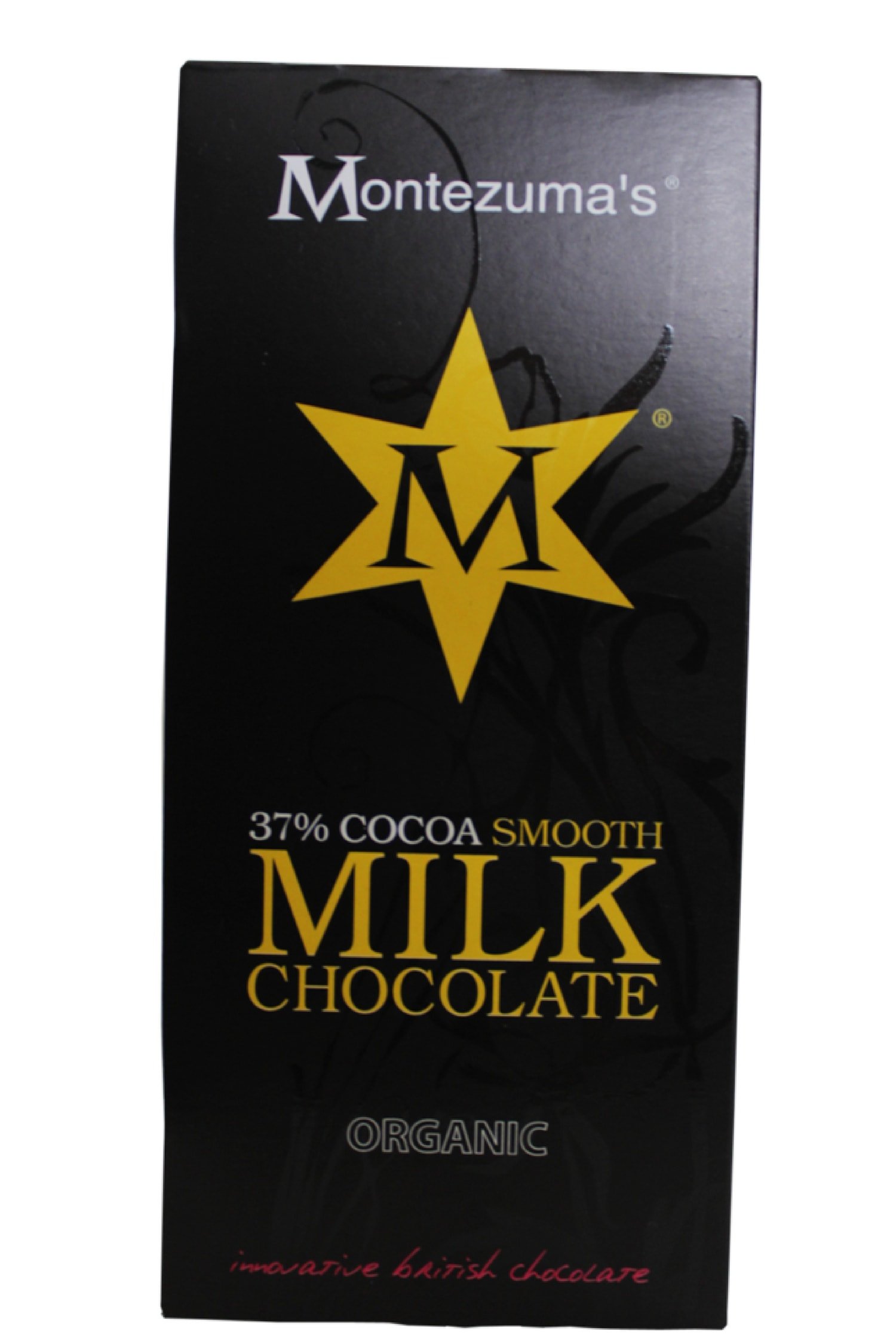 The organic milk chocolate bar is smooth and creamy