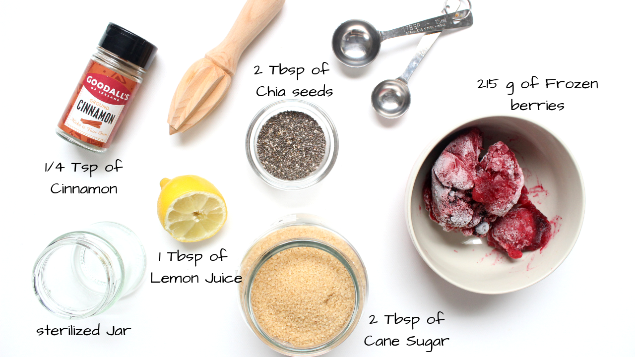 Ingredients-list-chia-seed-jam