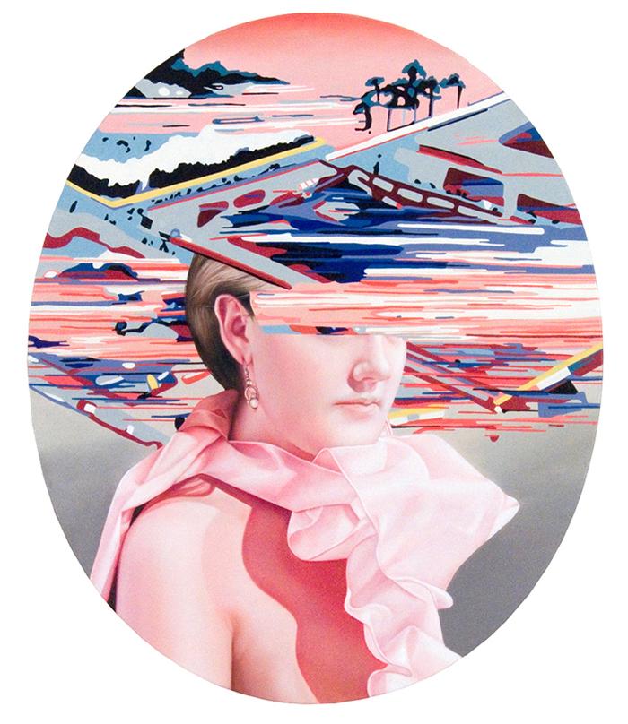 """Futurissima oil on canvas 36"""" x 30"""""""