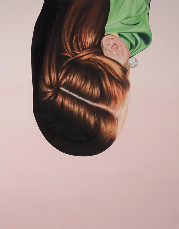 "Redhead 2015 oil on canvas 84"" x 66"""
