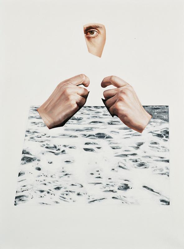 "Slow Wake Vanishing 2016 oil on canvas 16"" x 12"""