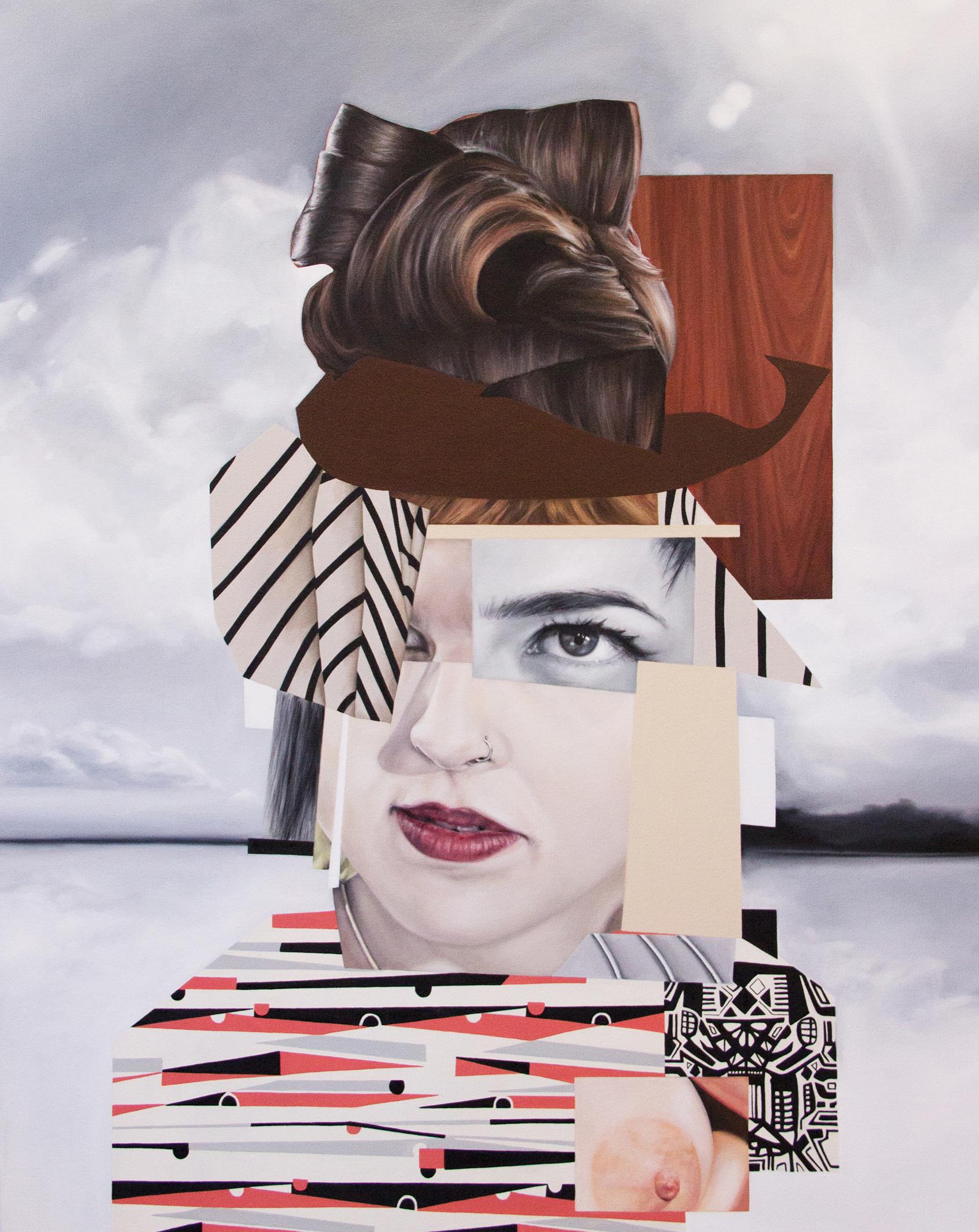 """Lady Dada 2014 oil on canvas 40"""" x 30"""""""