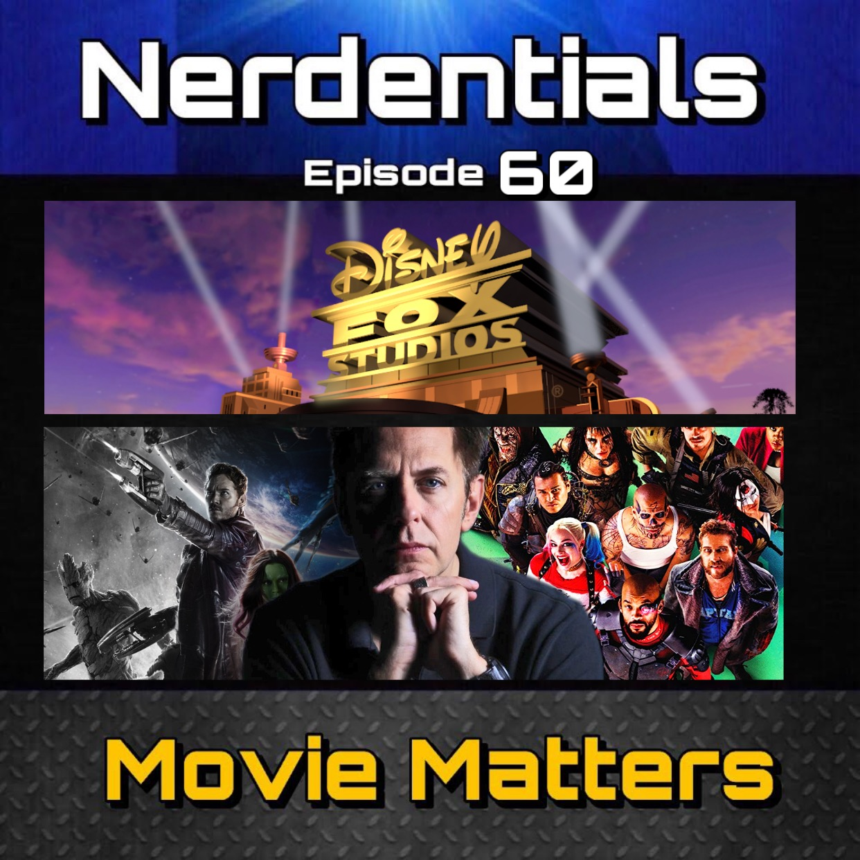 - Welcome to Nerdentials! Your weekly dose of the nerdy essentials. Covering Film, TV, Video Games and Comics.It's been a while Nerds! We know. so after a short hiatus....we return in full force! This week your nerd hosts Joe, Matt, Nick and Lynn cover some Movie Matters.First we discuss our excitement for James Gun coming back to the Guardians of the Galaxy 3 project and still finishing his work with a fresh take on DC's Suicide Squad.Then we talk Disney and Fox finally official...and what we hope to see in the coming years for the MCU.Then things get a little heated when we talk casting roles for these big MCU films.Strap in Nerds....it's a LONG one.