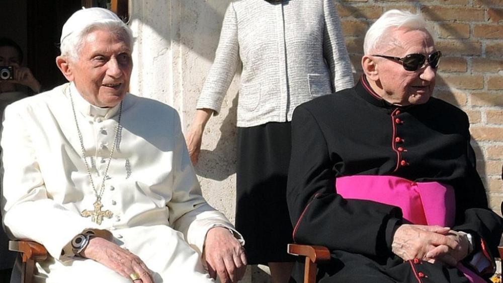 Emeritus Pope Benedict XVI & Monsignor Georg Ratzinger