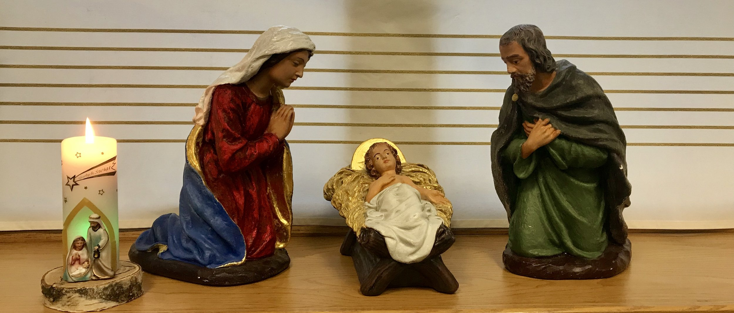 THE CRIB IN THE CHAPEL AT OUR OFFICE IN LITTLMORE