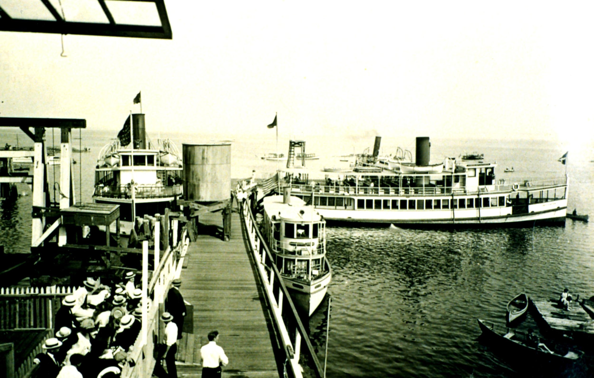 Ferries at Playland Pier c. 1930