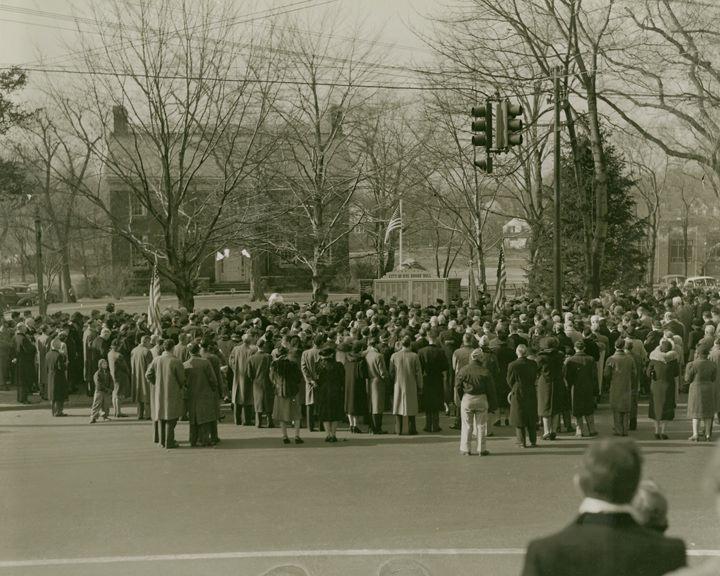 Dedication Ceremony of WWII Memorial c 1950's