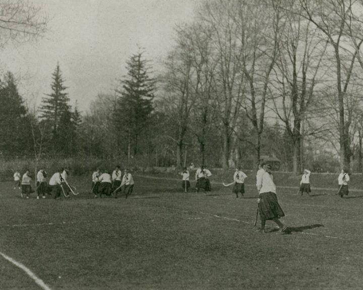 Girls' field hockey team c. 1910's