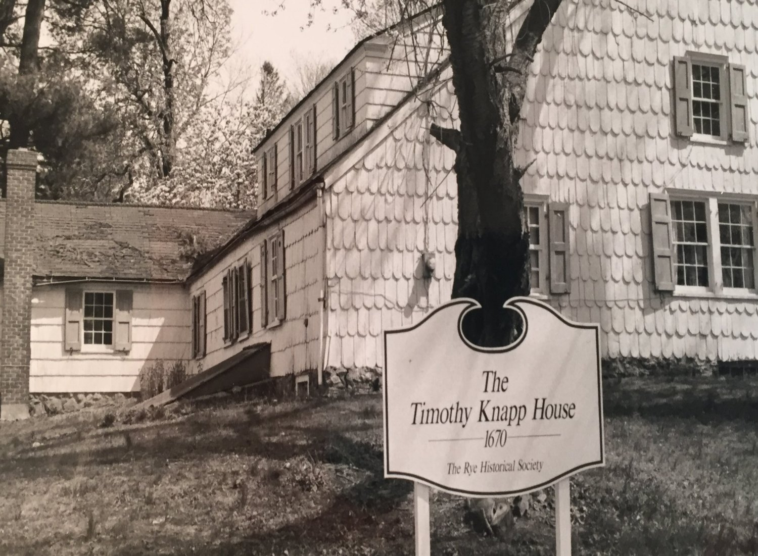 Knapp House in 1992 upon purchase by Rye Historical Society