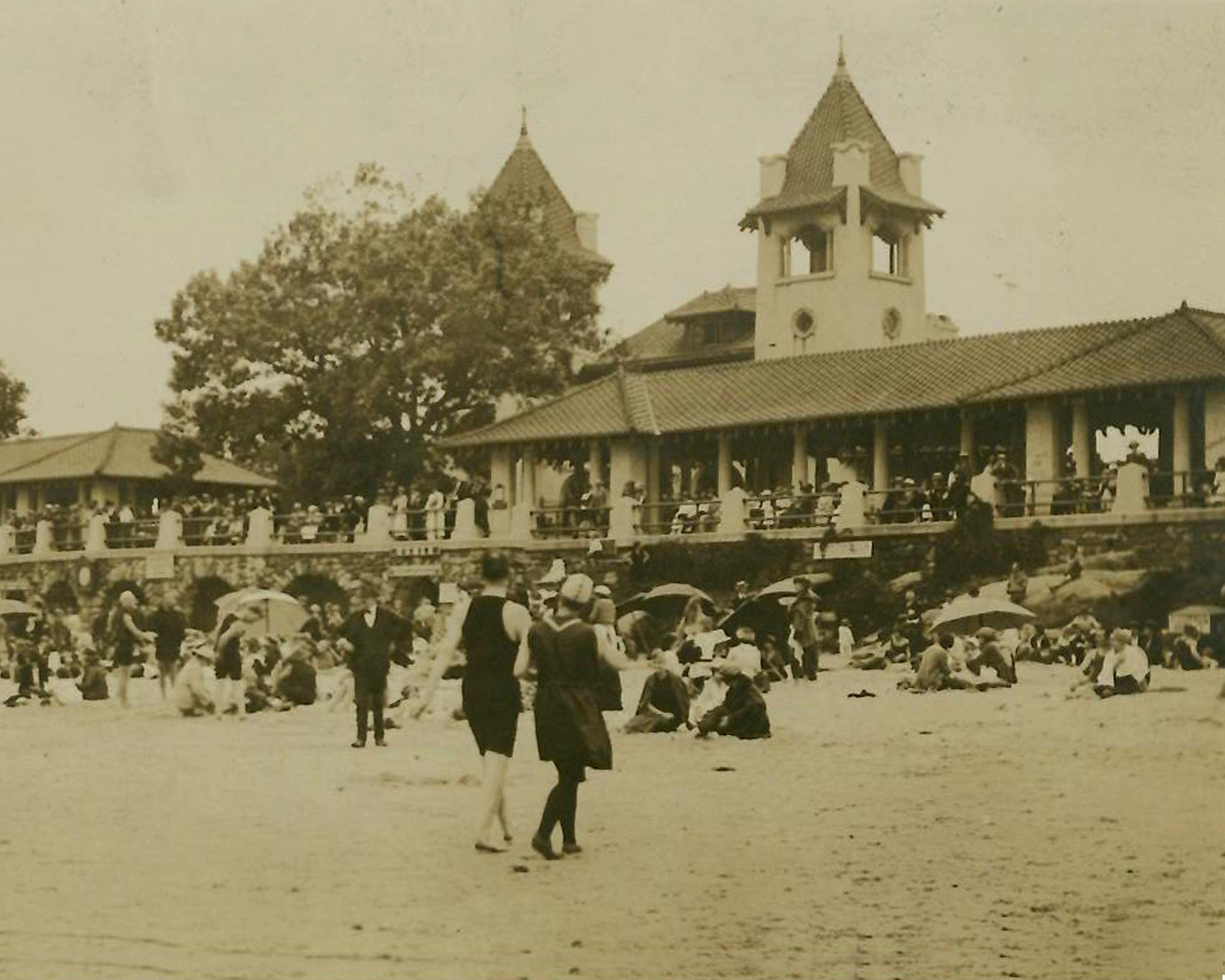Rye Town Park Bathhouse and Pavilions c 1920