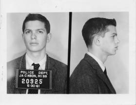 Peter Sterling arrested as a Freedom Rider in Jackson, Mississippi on June 30, 1961.