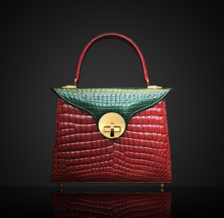 multicolour green and red croc bag.png