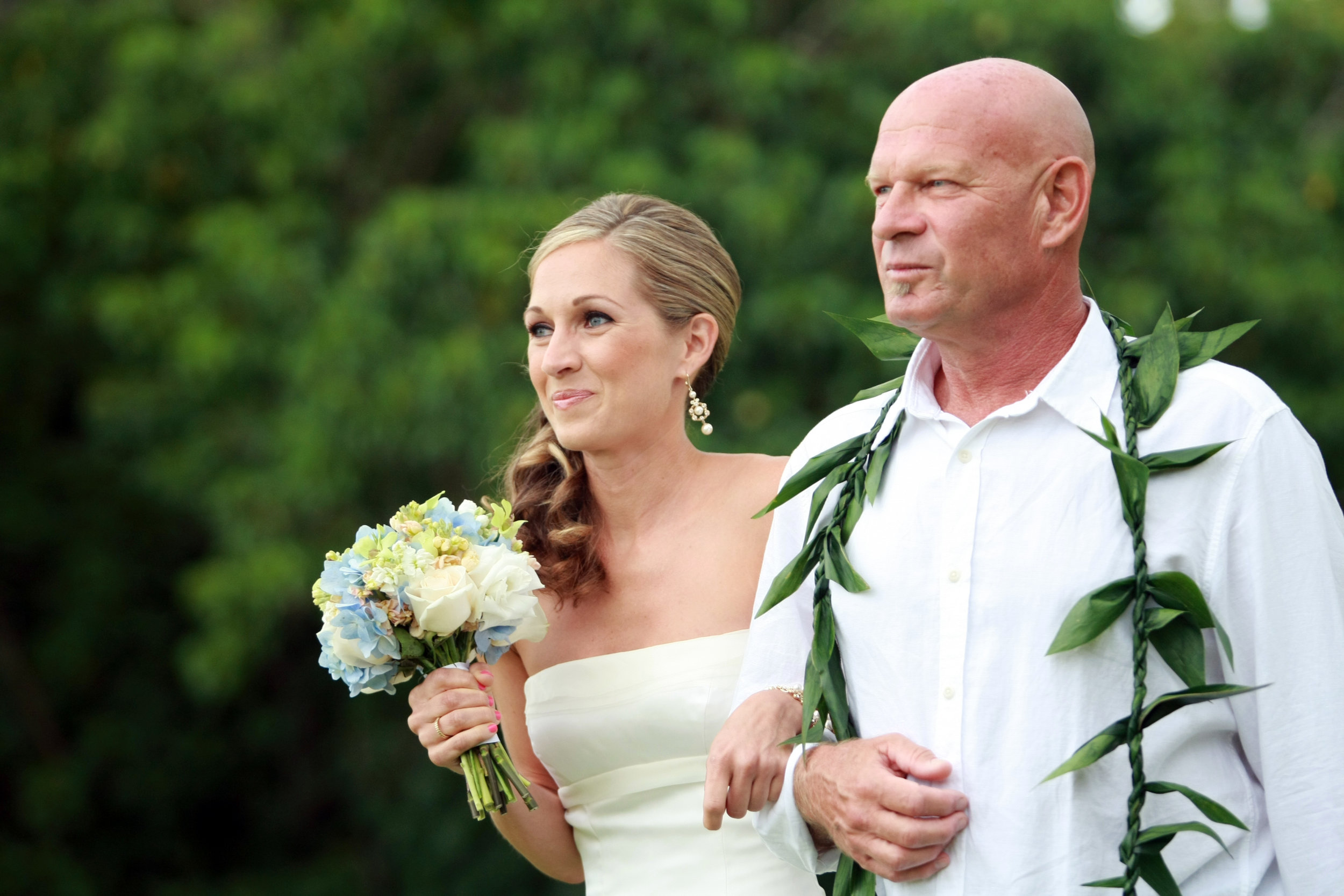 Me and my dad, on my wedding day.