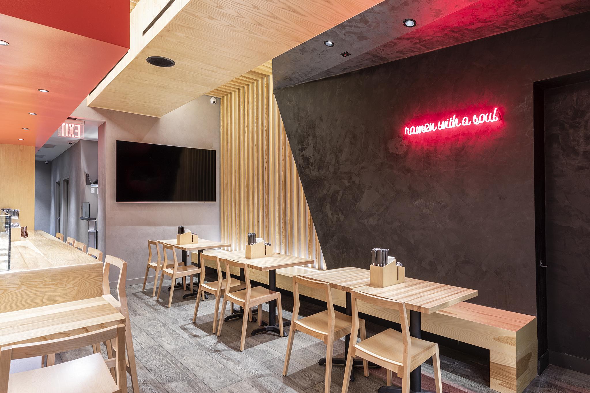 Tatsu Ramen in Lower Manhattan / design by Studio Unltd