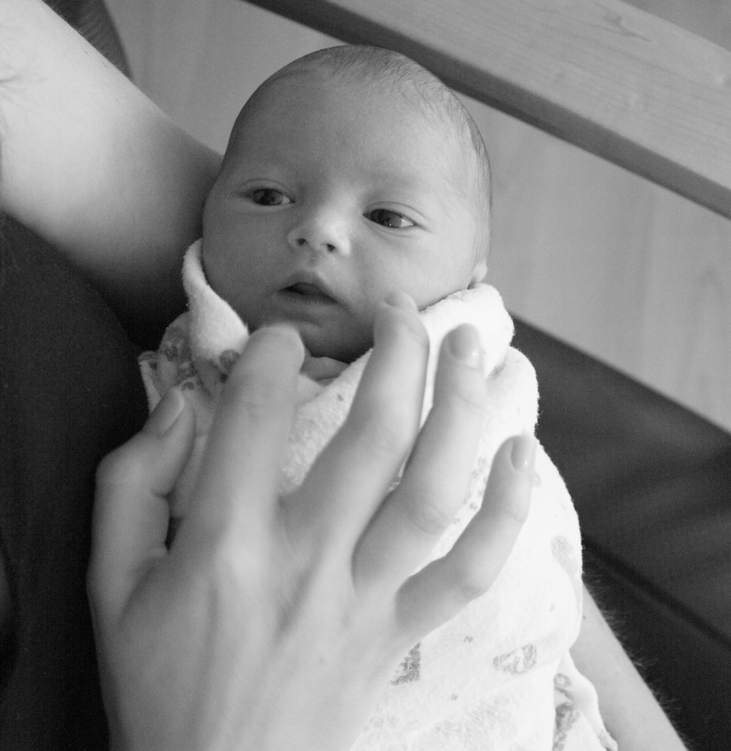 Sweet baby Jack, one day old.