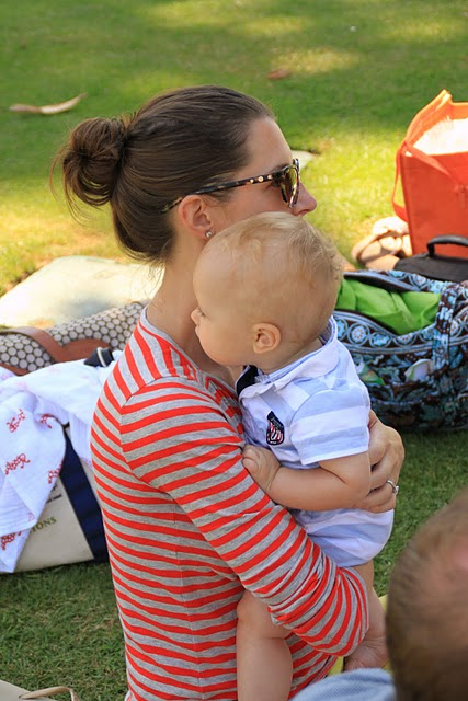 Jack (9 months) and me at a park play date.