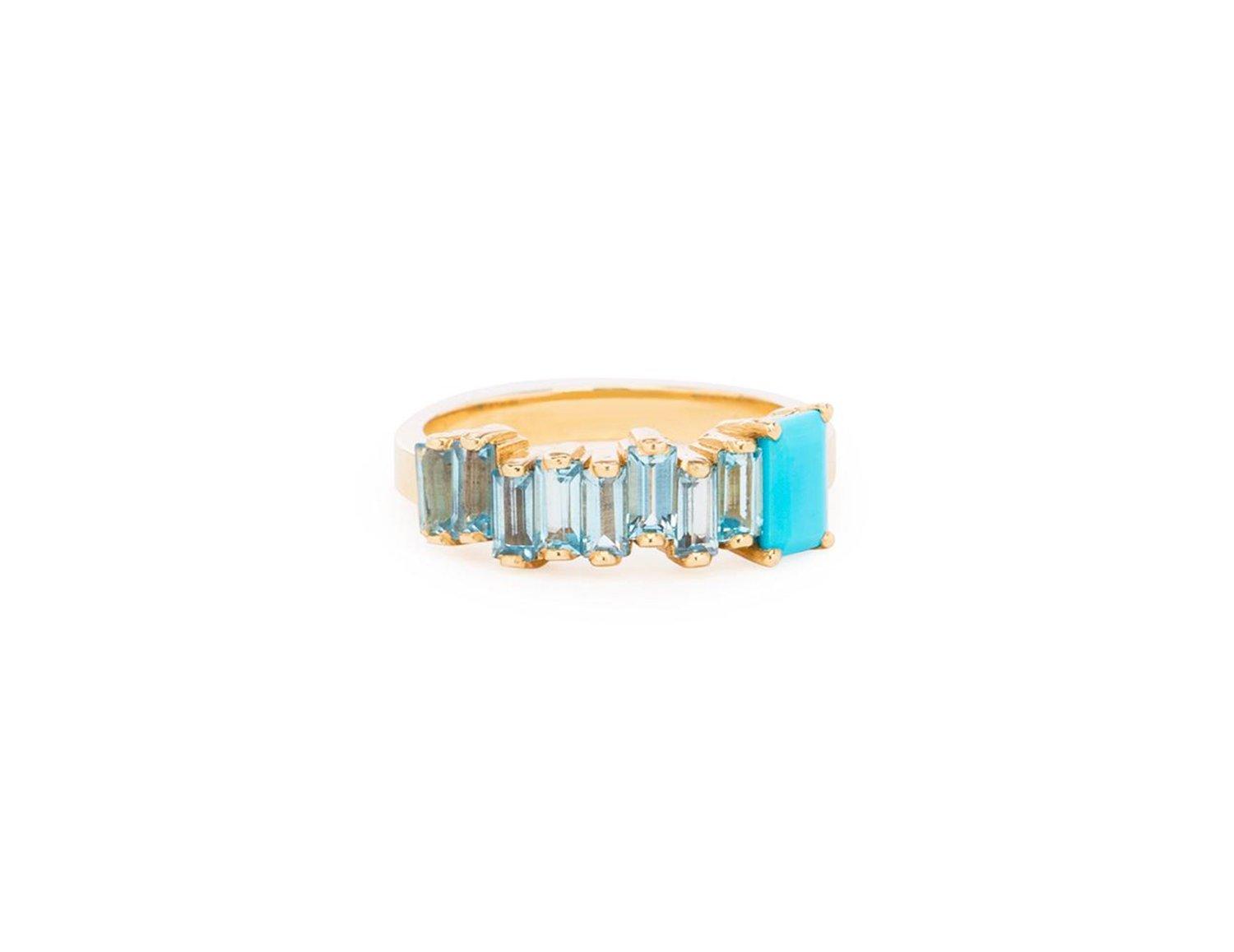 blue topaz and turquoise ring