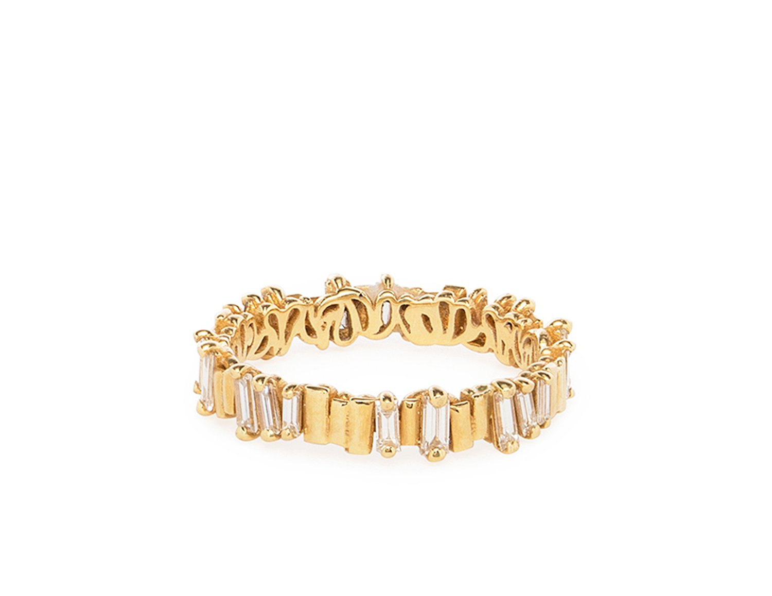 diamond and gold eternity band