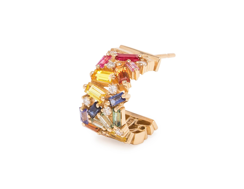 rainbow fireworks earrings